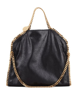 Stella McCartney Falabella Fold-Over Shoulder Bag, Black