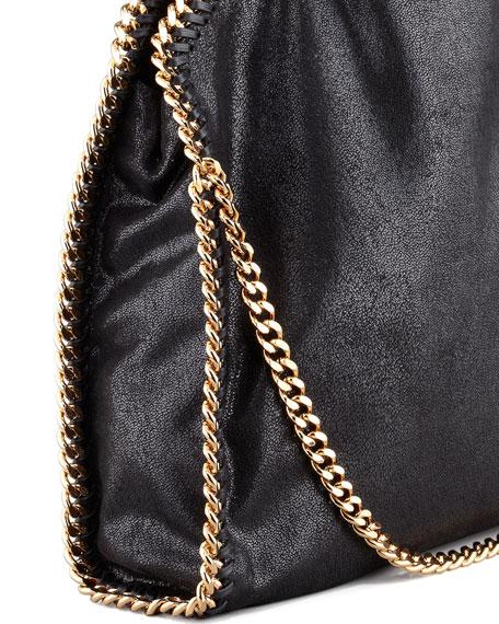 Falabella Fold-Over Shoulder Bag, Black