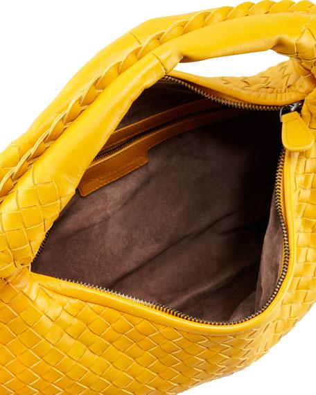 Intrecciato Medium Hobo Bag, Yellow
