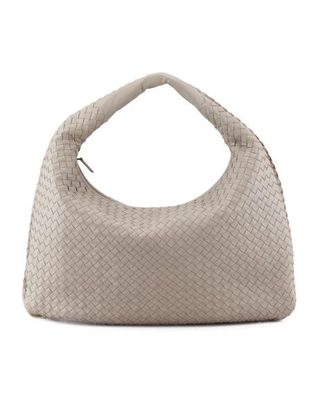 Intrecciato Hobo Bag, Gray