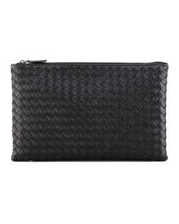 Bottega Veneta Extra Large Flat Cosmetic Bag, Black