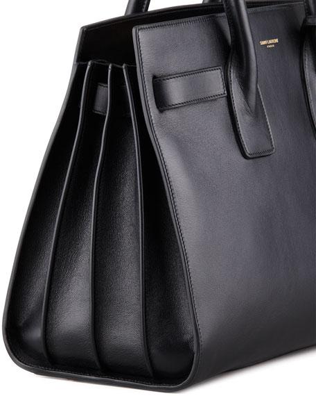 Saint Laurent Sac de Jour Satchel Bag, Black