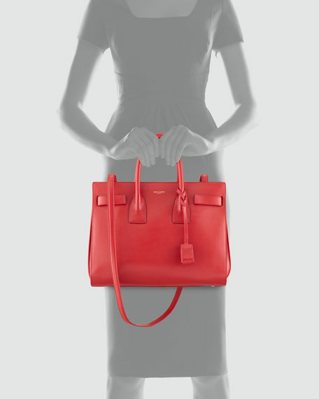 Sac de Jour Small Satchel Bag, Red