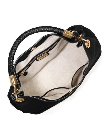 b256385f74665e Michael Kors Collection Large Skorpios Grained Shoulder Bag, Black