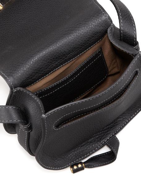 Chloe Marcie Small Leather Crossbody Bag, Black