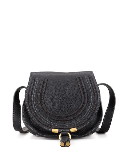 Marcie Small Saddle Bag, Black