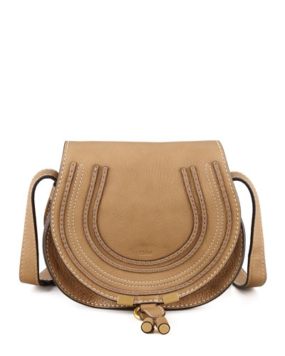 Marcie Small Saddle Bag, Nut