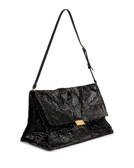 Steel Shoulder Bag, Black