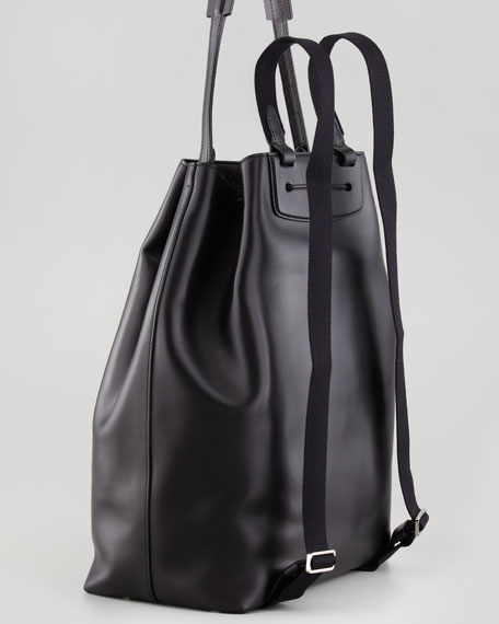 Leather Drawstring Hobo/Backpack