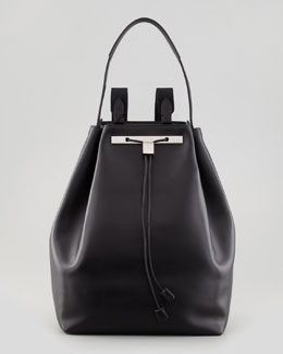 THE ROW Leather Drawstring Hobo/Backpack