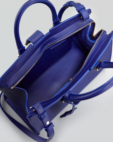 Y-Ligne Cabas Mini Leather Bag, Blue