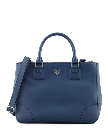 Robinson Double-Zip Tote Bag, Blue