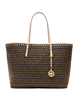 MICHAEL Michael Kors  Jet Set Studded Travel Tote