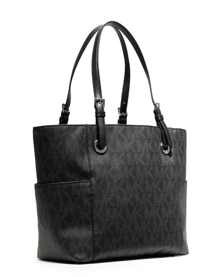 Jet Set Logo Tote Bag, Black