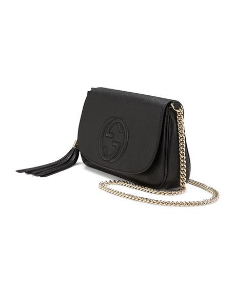 Gucci Soho Medium Leather Shoulder Bag, Black 990fd0024f9