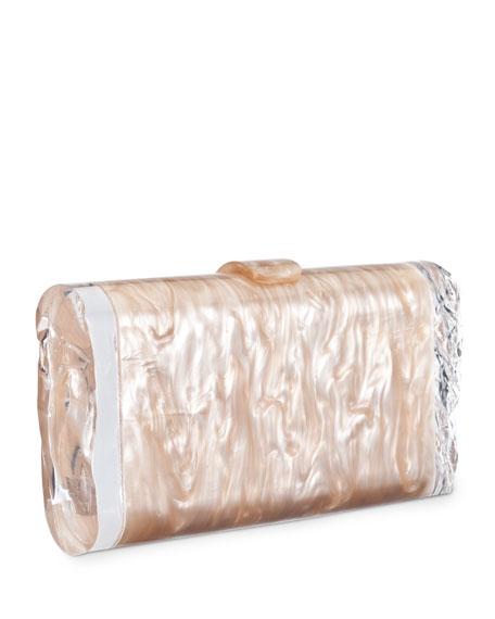 Edie Parker Lara Acrylic Ice Clutch Bag, Nude