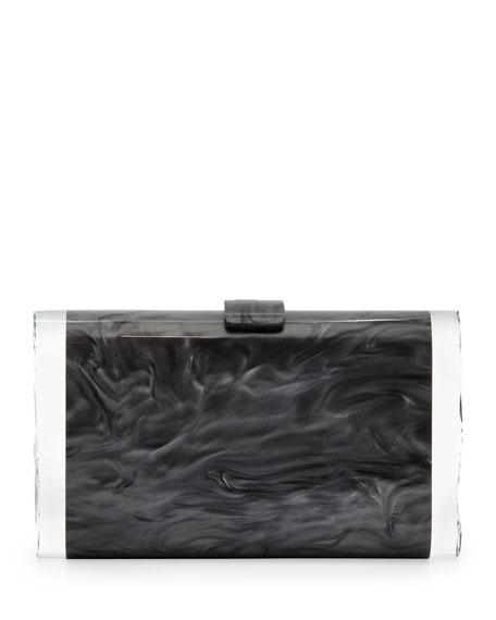Edie Parker Lara Acrylic Ice Clutch Bag, Steel