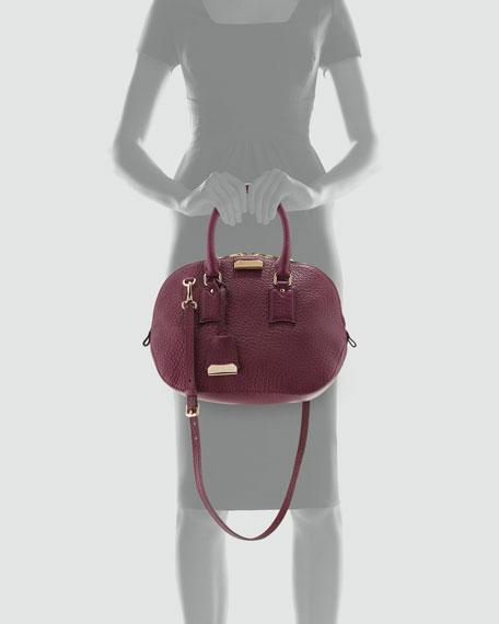 Small Domed Zip Satchel Bag, Magenta