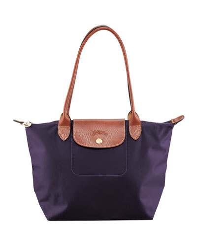 Le Pliage Shoulder Monogram Tote Bag, Bilberry