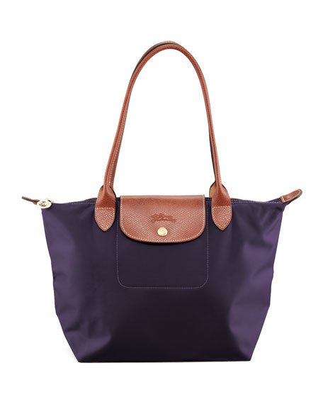 Longchamp Le Pliage Medium Shoulder Tote Bag, Bilberry