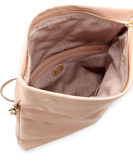 Bombe Fold-Over Crossbody Clutch Bag, Pink