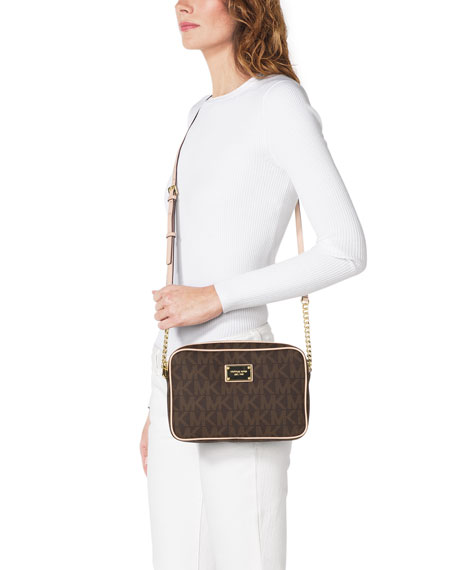 Jet Set Large Travel Crossbody, Brown