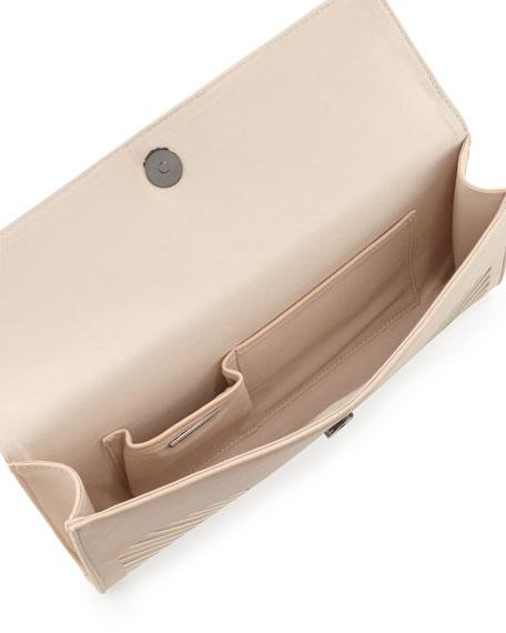 Geometric Laser-Cut Clutch Bag, Bare Pink