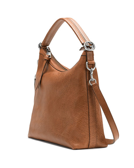 Miss GG Small Hobo Bag, Tan