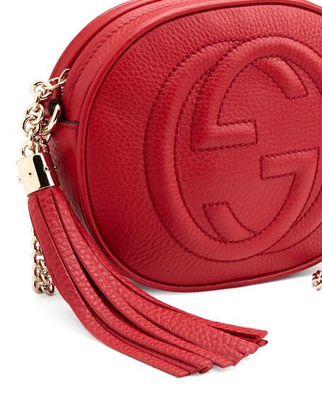 Soho Leather Mini Chain Bag, Red