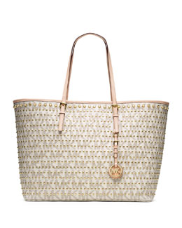 MICHAEL Michael Kors Jet Set Travel Studded Tote