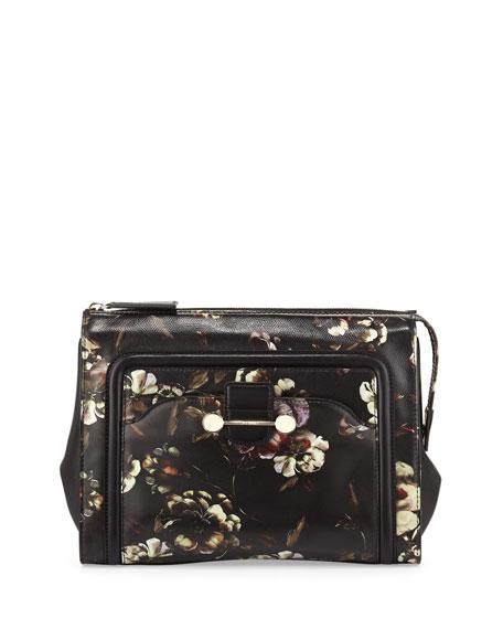 Daphne Floral-Print Clutch Bag, Multi