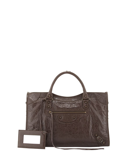 Balenciaga Classic City Bag, Dark Brown