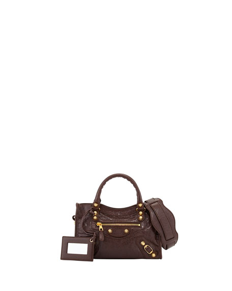 Balenciaga Giant 12 Golden Mini City Bag, Dark