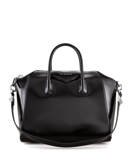 givenchy antigona medium leather satchel bag black. Black Bedroom Furniture Sets. Home Design Ideas
