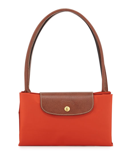 Le Pliage Large Shoulder Tote Bag, Poppy