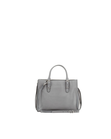 Papier A4 Mini Leather Tote Bag, Gray