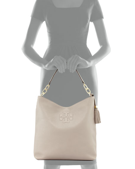 0bf02817bb47 Tory Burch Thea Leather Tassel Hobo Bag