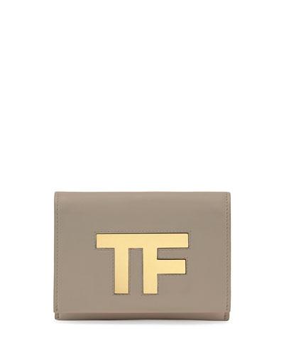 TF Small Flap Crossbody Bag, Taupe