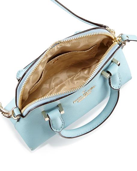 cedar street mini maise crossbody bag, celeste blue