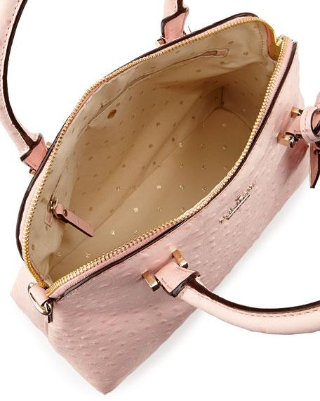 cedar street ostrich-print maise bag, posy pink