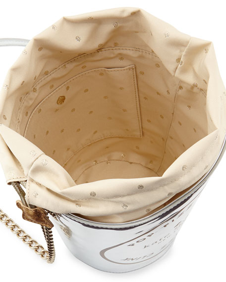 place your bets champagne bucket bag, silver