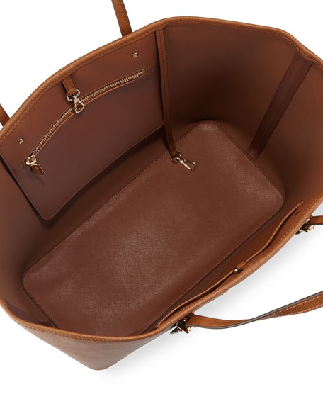 Jet Set Medium Saffiano Travel Tote Bag, Luggage