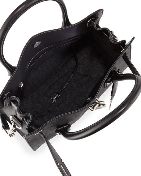 Hamilton MK Logo Satchel Bag, Black