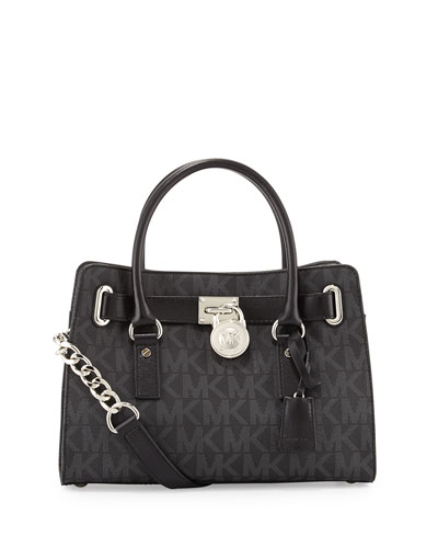 Hamilton MK Logo Satchel Bag, Black