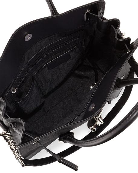 MICHAEL Michael Kors Hamilton Large Tote Bag, Black
