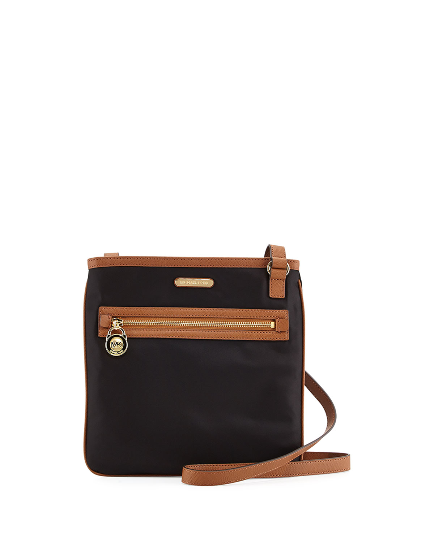 4764f050ccf235 MICHAEL Michael Kors Kempton Large Crossbody Bag, Black | Neiman Marcus