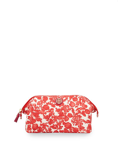 Printed Large Molded Cosmetics Bag, Issy