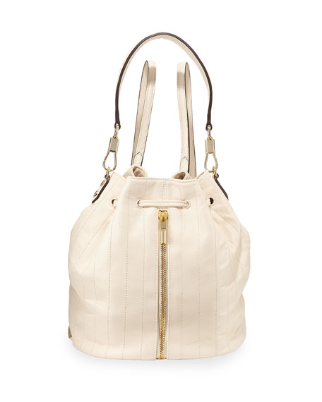 Elizabeth and James Cynnie Quilted Leather Drawstring Backpack,