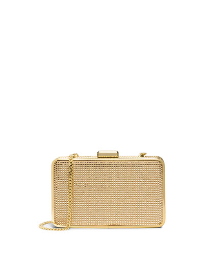 Elsie Crystal Box Clutch Bag, Blush/Topaz