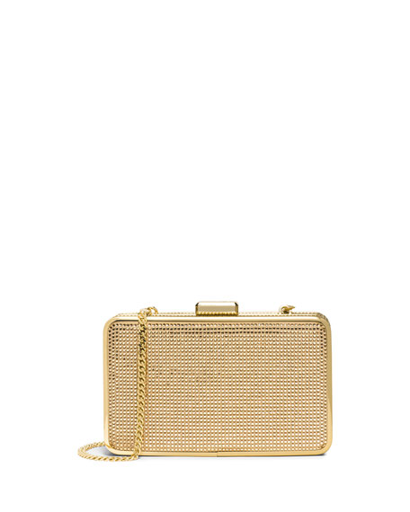 Elsie Crystal Box Clutch Bag, Blush/Topaz
